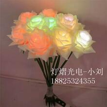 灯光节地插玫瑰花-盆景玫瑰花灯