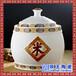 景德镇特色高温陶瓷便携香料罐双层盖子密封金属封口茶罐子