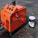 海西橡胶沥青专用喷涂机喷涂施工过程