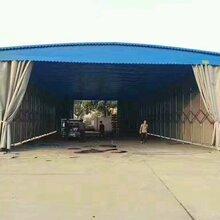 南京地区露天施工彩钢瓦钢结构雨棚钢筋材料堆放防雨蓬简易推拉雨篷图片