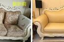 南宁坐垫皮更换,沙发翻新,布艺沙发换布,沙发换皮套图片