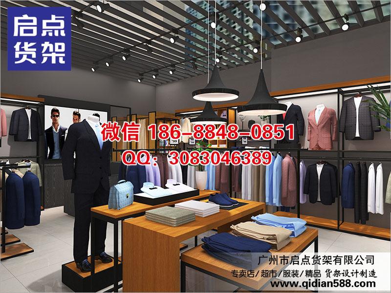 辽宁出售商务服装展示架,衬衫架,高档精品商务男装货架