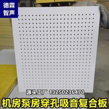 机电设备房降噪用穿孔复合吸音板600x600x15mm图片