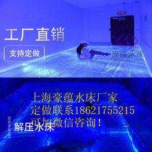 展馆透明游乐设备水床网红圆形水床透明水袋上海水床厂家直销图片