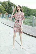 18新款凯撒贝雷女装时尚大码高端真丝连衣裙折扣分份批发一线品牌女装尾货批发