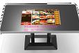 智慧餐廳32寸黑色高雅款鑫飛智能餐桌互動無人自助點餐游戲推薦收銀一體餐桌