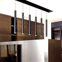 明晟饭店餐饮照明可变焦LED餐吊灯高效简约照明