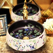批发陶瓷洗手台带水龙江图片