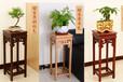 仿古花架中式榆木方形花架简约阳台仿古实木花架花盆景架置物架