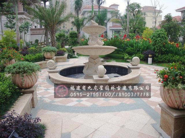 景观欧式水钵喷泉图片