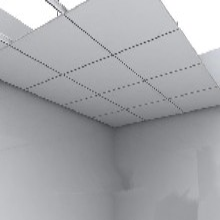 鋁天花廠家直營新疆醫院購物中心工裝吊頂鋁扣板圖片