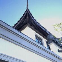 湖北宜昌项目复古屋檐双曲造型铝单板3.0mm异形弧形铝单板图片