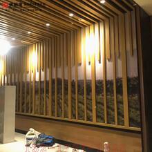 吊頂木紋鋁方通加工定制外墻隔斷裝飾鋁型材熱轉印木紋廠家直銷圖片