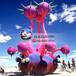 海洋主题天花板吊顶美陈装饰章鱼充气游乐园水族馆海洋馆动物园