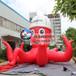红色海洋美陈展充气章鱼卡通八爪鱼乌贼仿真气模公园景观布置