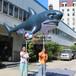 巡游充气鲨鱼气模大鲨鱼充气海洋动物模型儿童乐园通道卡通拱门