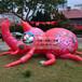 爬墙红蜘蛛花棉袄气模充气昆虫创意展示鸡眼兽艺术中心充气道具