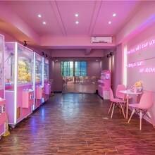 粉红色娃娃机店策划娃娃机店铺开业策划一站式服务图片