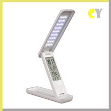 厂家直销创意折叠阅读护眼LED伴读台灯欧式充电池万年历礼品台灯图片