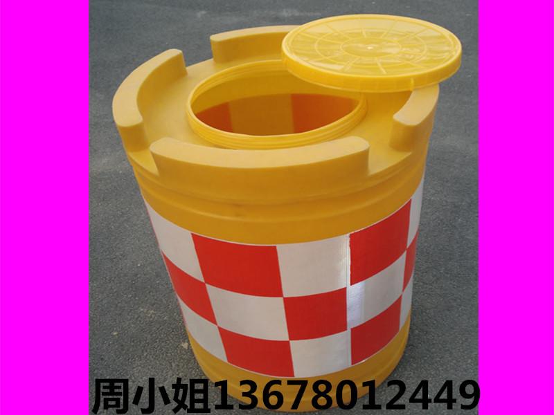 批发小防撞桶400700mm塑料pe防撞桶道路分流桶隔离桶交通设施