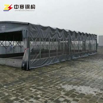山西中赛厂家直销活动伸缩遮阳蓬户外夜市烧烤蓬大型折叠仓储帐篷可移动推拉雨棚