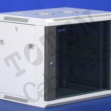 图腾W2系列挂墙机柜玻璃前门网络服务器机柜冷通道KVM、PDU