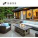北京戶外家具藤沙發椅組合防水防曬含坐墊出口歐美品質