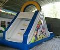 儿童移动充气泳池水上乐园设备厂家户外大型游泳池水上滑梯