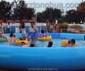 定做大型户外充气水池支架游泳池水上乐园