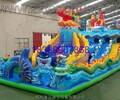 夏季新款海底世界充气大滑梯室外儿童充气城堡大型游乐
