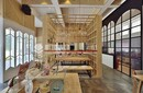 非一般的复古工业风咖啡馆效果图枫雅装饰设计