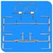 山東鐵件專業生產光纜余纜架金具通信光纜盤留架廠家直銷供應