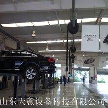高效优质汽车尾气抽排系统滑轨式自卷式软管3.8米滑轨铝合金