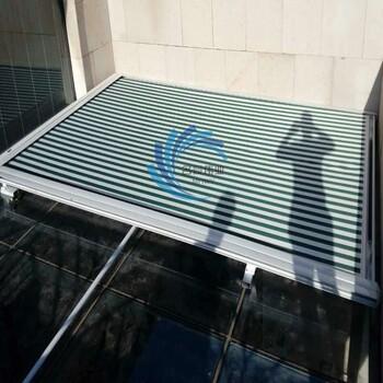 河北订做阳光房电动户外遮阳棚伸缩蓬阳光房天幕棚隔热蓬遮阳棚图片