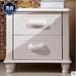 白色烤漆全實木床頭柜臥室收納柜儲物兩門柜廠家批發
