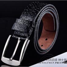 男士潮人必备针扣腰带爆款韩版时尚休闲蟒蛇纹皮带厂家批发