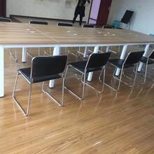 二手会议桌,简约长条办公桌,工位桌低价处理图片