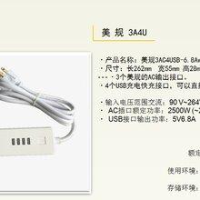 智立德睿量WK排插带USB排插座快充通用智能排插欧规/英规/美图片