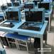电动升降屏风电脑桌,多媒体视频培训桌,学生考试专用桌