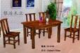 餐桌圖片家庭餐桌椅原木家具制造廠家山東銀浩