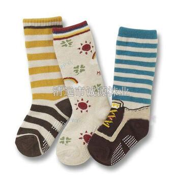 秋冬纯棉儿童袜中长筒儿童袜广东袜子加工厂