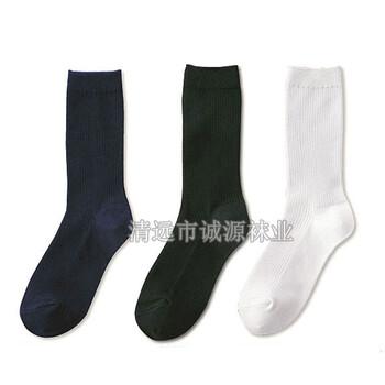 袜子订做OEM纯棉白色学生袜港澳学生袜Schoolsocks