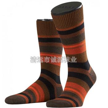 广东袜子加工厂OEM贴牌条纹男袜商务男士袜外贸袜