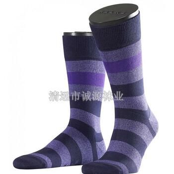 广东袜子加工厂批发订做条纹商务男袜西装袜