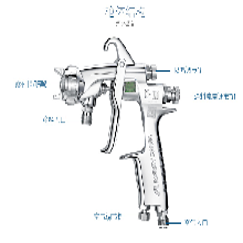 供应原装日本岩田W-101-181G喷漆枪岩田手动W-101重力式喷枪