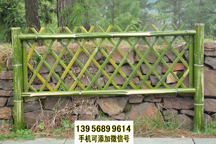 衡阳耒阳竹篱笆 竹子护栏木栅栏白色pvc护栏(中闻资讯)
