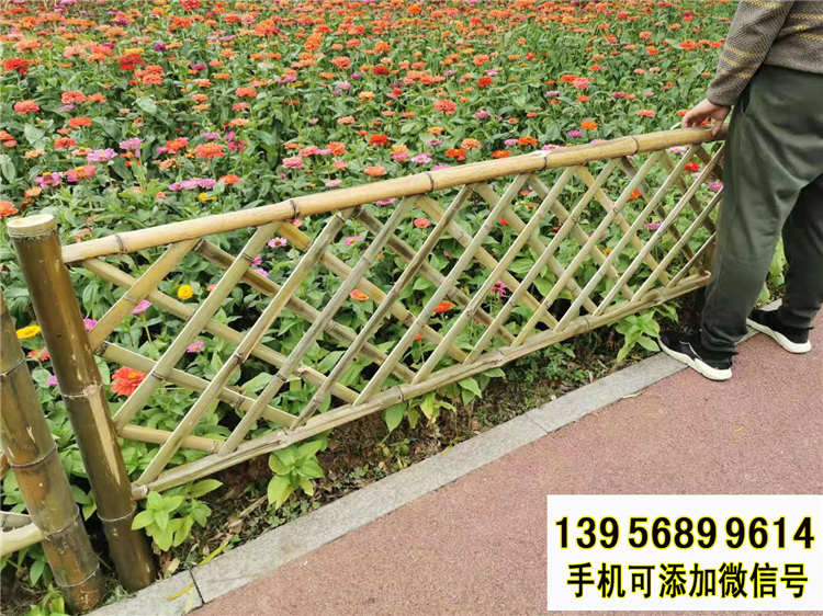 果洛班玛县竹篱笆 pvc护栏绿化栏杆绿化带花园栏杆(中闻资讯)