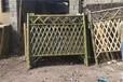 西林竹圍欄碳化伸縮柵欄竹籬笆pvc護欄pvc護欄