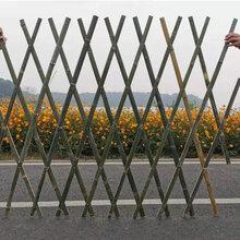 衡水安平竹篱笆碳化木护栏竹护栏pvc护栏图片