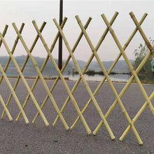 唐山迁安竹篱笆竹篱笆门竹护栏仿竹节护栏图片